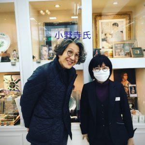 おしゃれメガネブランド【VioRou】のデザイナー小野寺慎吾氏が来店してくださいました。