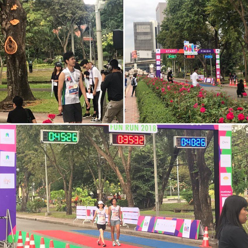 バンコク_ルンピニー公園でのマラソン大会