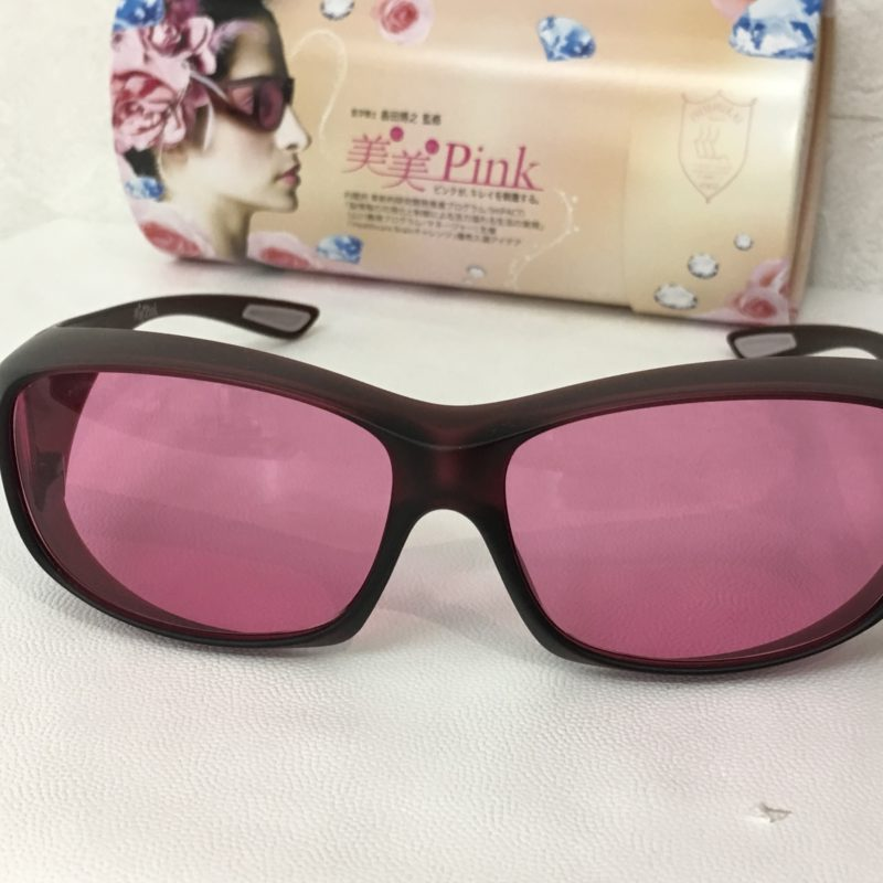 心を落ち着かせるメガネ_美美ピンク_女性の為のメガネ