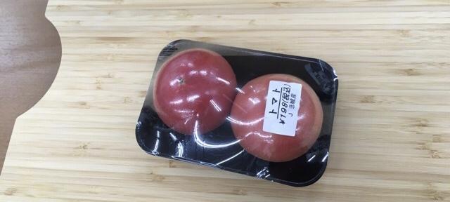 コンビニで買ってきたトマト