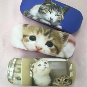 かわいい猫ちゃんのメガネケース&メガネ拭き